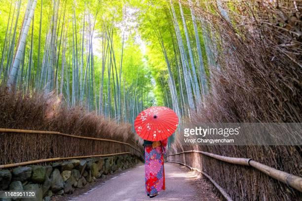 arashiyama bamboo forest kyoto - arashiyama stock pictures, royalty-free photos & images