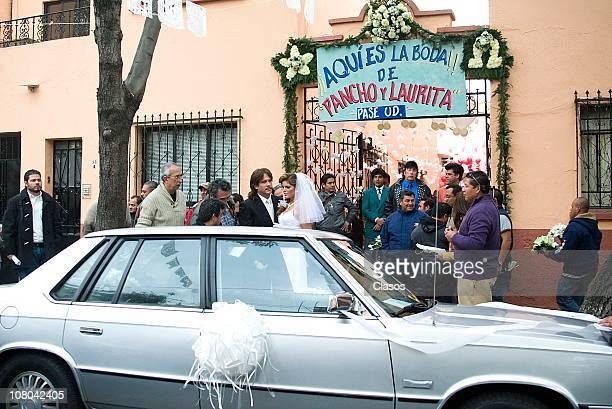 Arath De la Torre and Ana Barbara on set filming the new soap opera Una Familia con Suerte on January 13 2011 in Mexico City Mexico Photo by Angel...