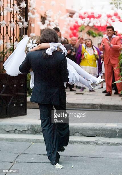 Arath De la Torre and Ana Barbara on set filming the new soap opera Una Familia con Suerte on January 13 2011 in Mexico City Mexico