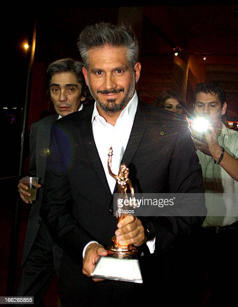 Arath de la Torre during the awards ceremony of Theatre Critics Association on April 10 2013 in Mexico City Mexico