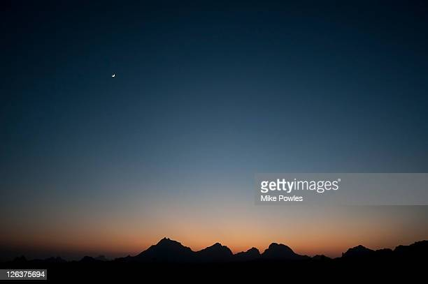 aravelli hills moonrise, rajasthan - dusk stock pictures, royalty-free photos & images