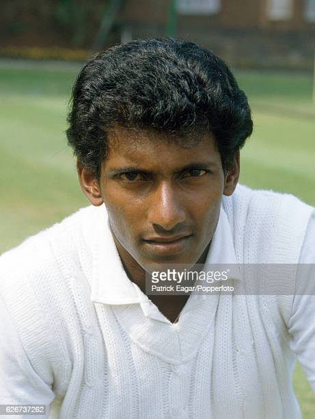 Aravinda de Silva of Sri Lanka during the 1984 tour of England circa August 1984