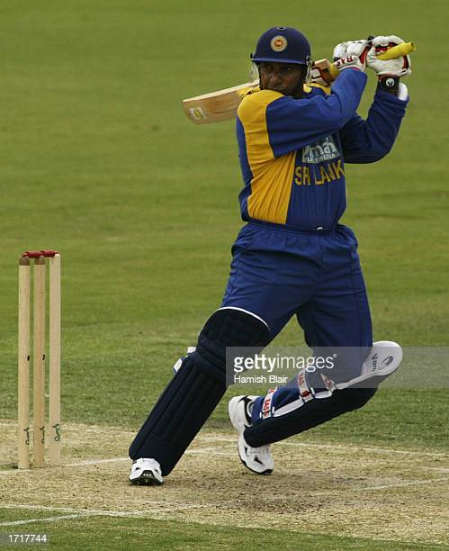 Aravinda De Silva of Sri Lanka in action during the One Day match between Australia A and Sri Lanka played at the Adelaide Oval in Adelaide...