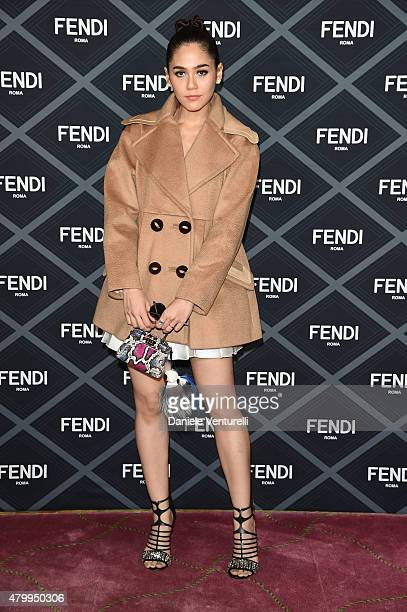 Araya A Hargate aka Chompoo attends the Fendi show as part of Paris Fashion Week Haute Couture Fall/Winter 2015/2016 on July 8 2015 in Paris France