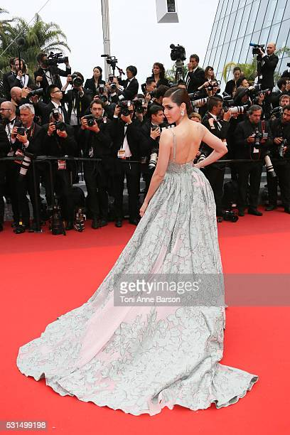 """Araya A. Hargate attends a screening of """"The BFG"""" at the annual 69th Cannes Film Festival at Palais des Festivals on May 14, 2016 in Cannes, France."""