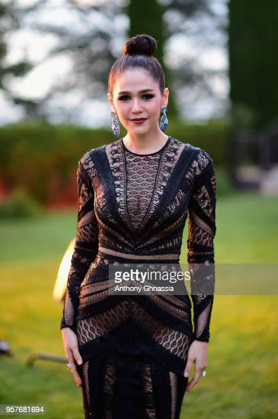 Araya A Hargate attends Chopard Secret Night during the 71st annual Cannes Film Festival at Chateau de la Croix des Gardes on May 11 2018 in Cannes...