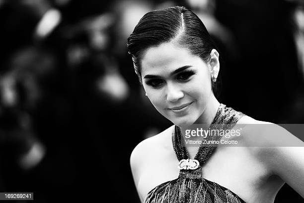 Araya A Hargate attends the 'All Is Lost' Premiere during the 66th Annual Cannes Film Festival on May 22 2013 in Cannes France