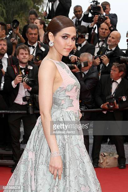 Araya A Hargate attends The BFG premiere during the 69th annual Cannes Film Festival at the Palais des Festivals on May 14 2016 in Cannes France