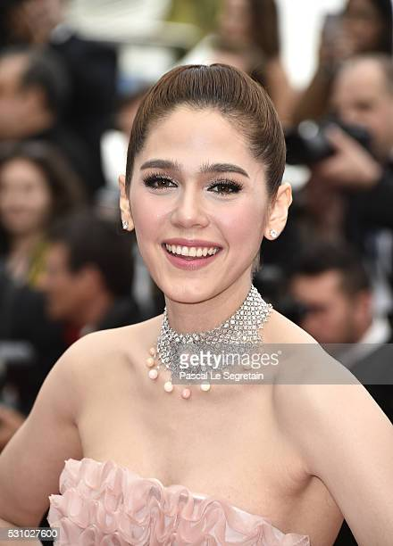 Araya A Hargate attends the Cafe Society premiere and the Opening Night Gala during the 69th annual Cannes Film Festival at the Palais des Festivals...