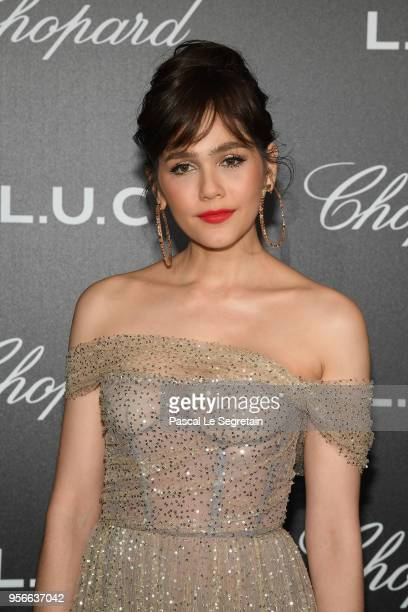 Araya A Hargate attends the Chopard Gentleman's Evening at Hotel Martinez on May 9 2018 in Cannes France