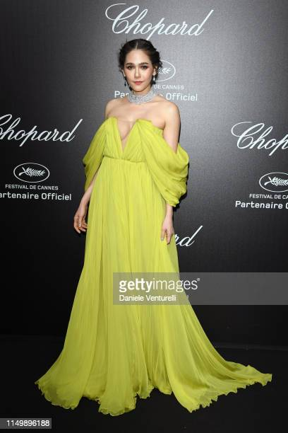 Araya A Hargate attends the Chopard Love Night photocall on May 17 2019 in Cannes France