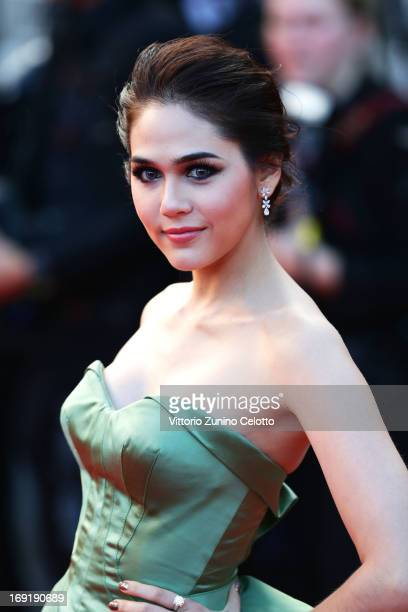 Araya A Hargate attends the Cleopatra Premiere during the 66th Annual Cannes Film Festival at Grand Theatre Lumiere on May 21 2013 in Cannes France