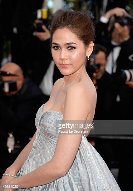 Araya A Hargate attends the 'Clouds Of Sils Maria' premiere during the 67th Annual Cannes Film Festival on May 23 2014 in Cannes France