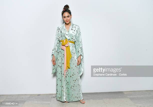 Araya A Hargate attends the Elie Saab Haute Couture Fall/Winter 2019 2020 show as part of Paris Fashion Week on July 03 2019 in Paris France