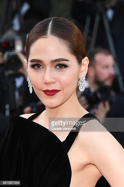 Araya A Hargate attends the 'From The Land Of The Moon ' premiere during the 69th annual Cannes Film Festival at the Palais des Festivals on May 15...