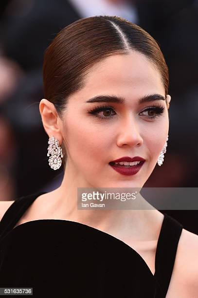 Araya A Hargate attends the From The Land Of The Moon premiere during the 69th annual Cannes Film Festival at the Palais des Festivals on May 15 2016...
