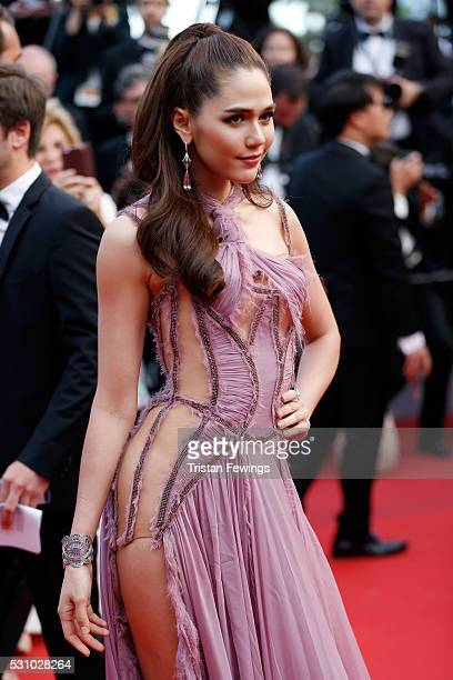 Araya A Hargate attends the Money Monster premiere during the 69th annual Cannes Film Festival at the Palais des Festivals on May 12 2016 in Cannes...
