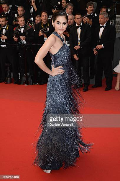 Araya A Hargate attends the Premiere of 'All Is Lost' during The 66th Annual Cannes Film Festival at the Palais des Festivals on May 22 2013 in...
