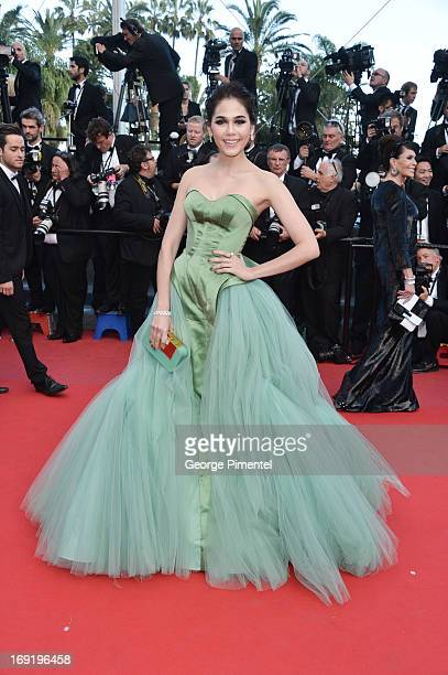 Araya A Hargate attends the Premiere of 'Cleopatra' at The 66th Annual Cannes Film Festival on May 21 2013 in Cannes France