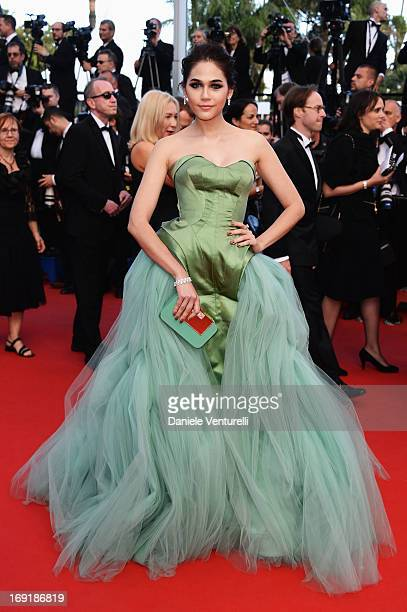 Araya A Hargate attends the Premiere of 'Cleopatra' during the 66th Annual Cannes Film Festival at the Palais des Festivals on May 21 2013 in Cannes...