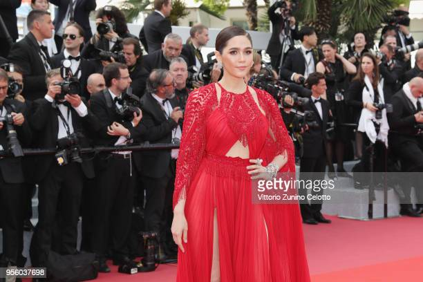 Araya A Hargate attends the screening of Everybody Knows and the opening gala during the 71st annual Cannes Film Festival at Palais des Festivals on...