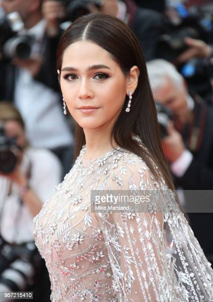 Araya A Hargate attends the screening of Sorry Angel during the 71st annual Cannes Film Festival at Palais des Festivals on May 10 2018 in Cannes...