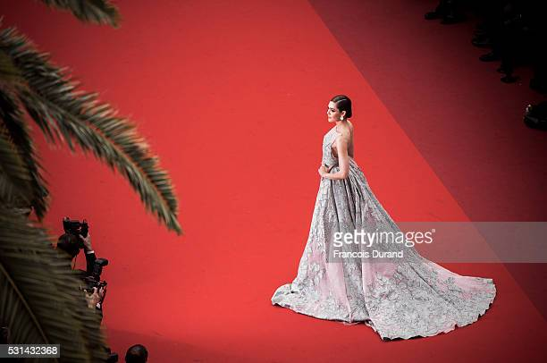 Araya A Hargate attends the screening of 'The BFG' at the annual 69th Cannes Film Festival at Palais des Festivals on May 14 2016 in Cannes France