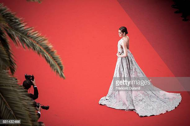 """Araya A. Hargate attends the screening of """"The BFG"""" at the annual 69th Cannes Film Festival at Palais des Festivals on May 14, 2016 in Cannes, France."""