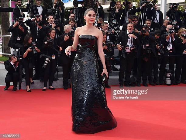 Araya A Hargate attends 'The Search' Premiere at the 67th Annual Cannes Film Festival on May 21 2014 in Cannes France