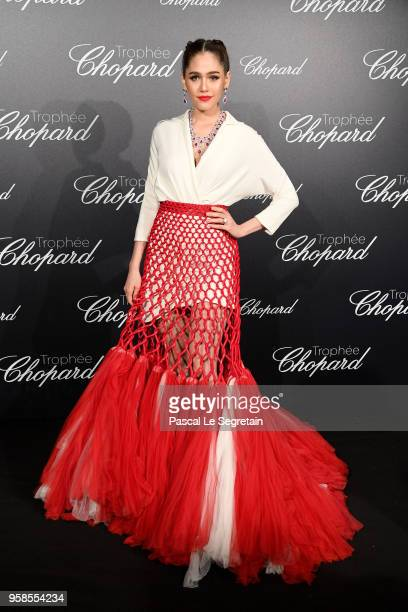 Araya A Hargate attends the Trophee Chopard during the 71st annual Cannes Film Festival at Hotel Martinez on May 14 2018 in Cannes France