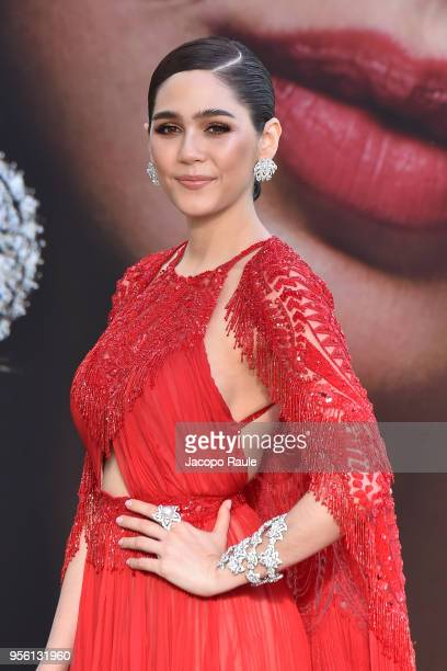 Araya A Hargate is seen at Hotel Martinez during the 71st annual Cannes Film Festival at on May 8 2018 in Cannes France
