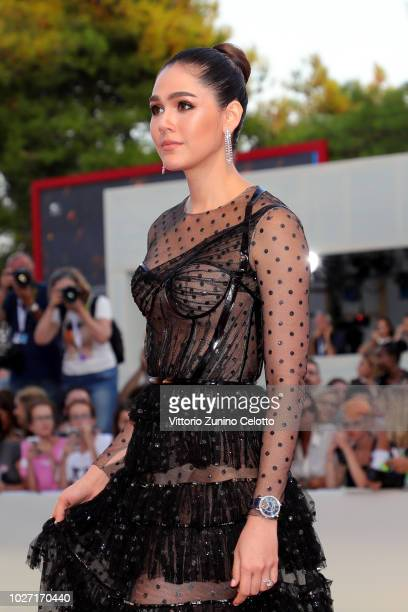 Araya A Hargate walks the red carpet ahead of the '22 July' screening during the 75th Venice Film Festival at Sala Grande on September 5 2018 in...
