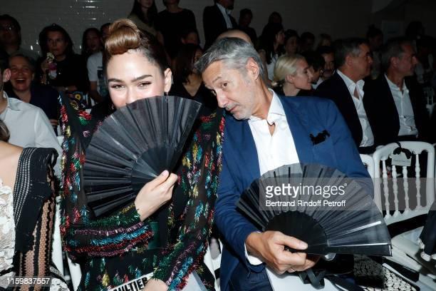 Araya Alberta Hargate and Antoine de Caunes attend the Jean Paul Gaultier Haute Couture Fall/Winter 2019 2020 show as part of Paris Fashion Week on...