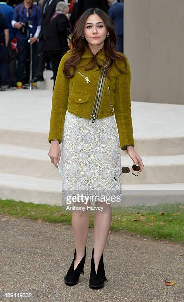 Araya Alberta Hargate attends the Burberry Prorsum show during London Fashion Week Spring/Summer 2016/17 on September 21 2015 in London England