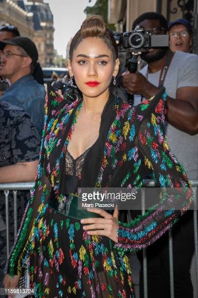 Araya Alberta Hargate attends the Jean Paul Gaultier Haute Couture Fall/Winter 2019 2020 show as part of Paris Fashion Week on July 03 2019 in Paris...