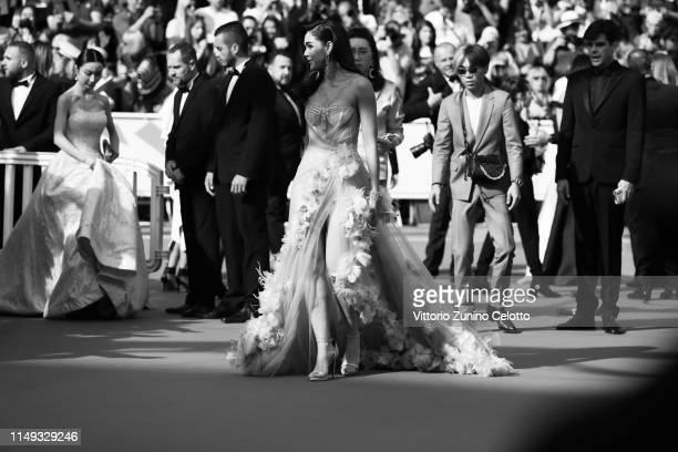 Araya Alberta Hargate attends the screening of Les Miserables during the 72nd annual Cannes Film Festival on May 15 2019 in Cannes France
