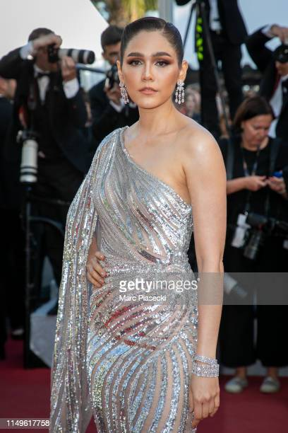 Araya Alberta Hargate attends the screening of Rocketman during the 72nd annual Cannes Film Festival on May 16 2019 in Cannes France