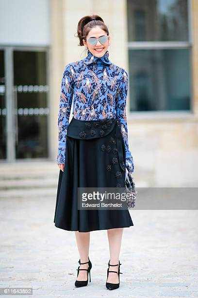 Araya Alberta Hargate is attending the Dior show during Paris Fashion Week Spring Summer 2017 at the Rodin museum on September 30 2016 in Paris France