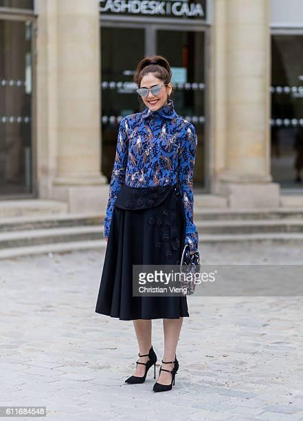 Araya Alberta Hargate outside of Dior on September 30 2016 in Paris France