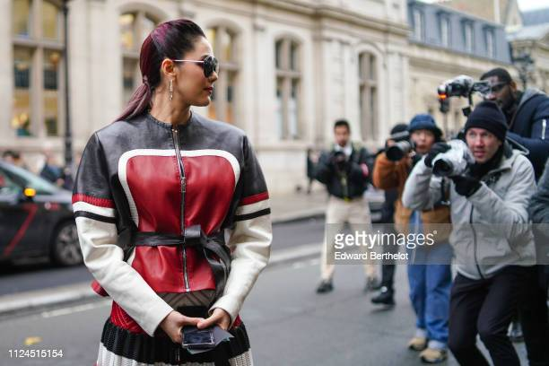 Araya Hargate attends Atelier JeanPaul Gaultier during Paris Fashion Week Haute Couture Spring Summer 2019 on January 23 2019 in Paris France