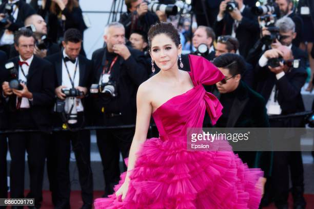 Araya Hargate attends attends the '120 Beats Per Minute ' screening during the 70th annual Cannes Film Festival at Palais des Festivals on May 20...