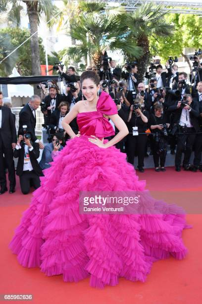 Araya Hargate attends the 120 Beats Per Minute screening during the 70th annual Cannes Film Festival at Palais des Festivals on May 20 2017 in Cannes...