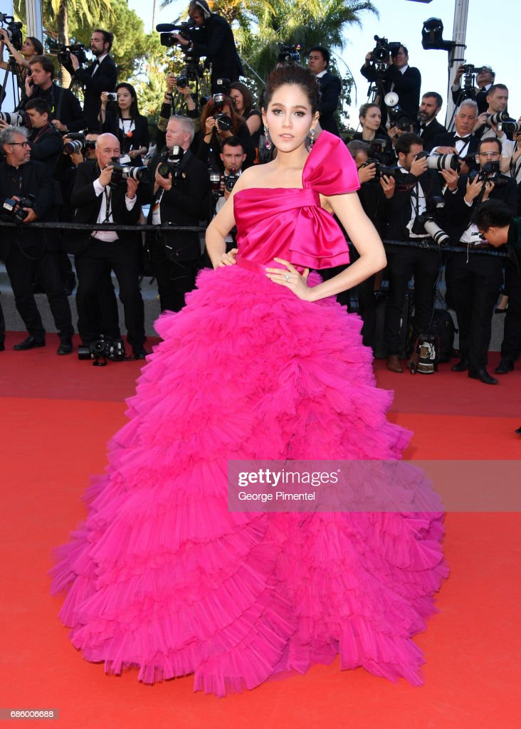 Araya Hargate attends the '120 Beats Per Minute (120 Battements Par Minute)' screening during the 70th annual Cannes Film Festival at Palais des Festivals on May 20, 2017 in Cannes, France.