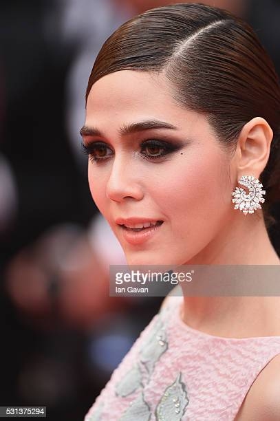 Araya Hargate attends 'The BFG ' premiere during the 69th annual Cannes Film Festival at the Palais des Festivals on May 14 2016 in Cannes France