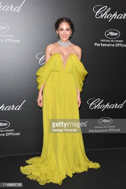 Araya Hargate attends the Chopard Party during the 72nd annual Cannes Film Festival on May 17 2019 in Cannes France