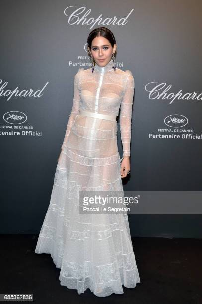 "Araya Hargate attends the Chopard ""SPACE Party"" hosted by Chopard's copresident Caroline Scheufele and Rihanna at Port Canto on May 19 in Cannes..."