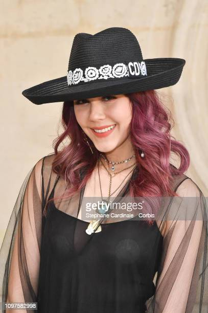 Araya Hargate attends the Christian Dior Haute Couture Spring Summer 2019 show as part of Paris Fashion Week on January 21 2019 in Paris France
