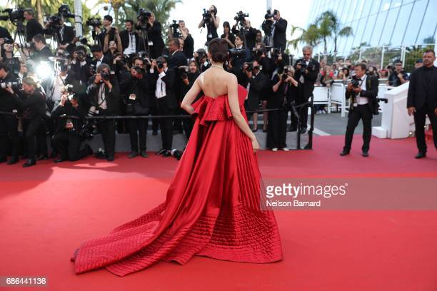 Araya Hargate attends 'The Meyerowitz Stories' screening during the 70th annual Cannes Film Festival at Palais des Festivals on May 21 2017 in Cannes...