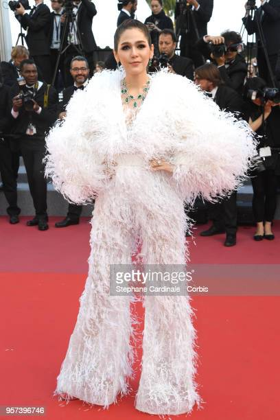 Araya Hargate attends the screening of 'Ash Is The Purest White ' during the 71st annual Cannes Film Festival at Palais des Festivals on May 11 2018...