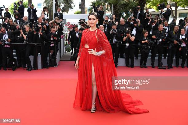 Araya Hargate attends the screening of 'Everybody Knows ' and the opening gala during the 71st annual Cannes Film Festival at Palais des Festivals on...